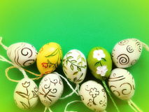 Ceramics Easter Eggs Royalty Free Stock Photos