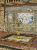 Ceramics fountain in Seville Royalty Free Stock Image