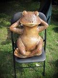 Ceramics frog -souvenir Stock Image