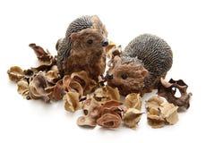 Ceramics hedgehog with potpourri Royalty Free Stock Photo