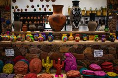 Ceramics at the market, Jujuy, Argentina royalty free stock photos
