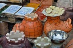Ceramics on the market Stock Photo