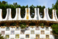 Ceramics  in Park Guell Royalty Free Stock Images