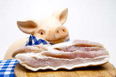 Ceramics pig with pork Stock Photography