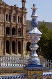Ceramics of Plaza de Espa�a. First plane of ceramics that adorns the Plaza de Espa�a of Seville stock photos