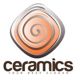 Ceramics or Pottery Logo Royalty Free Stock Images