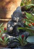 Ceramics sculpture in the botanic garden Stock Photos