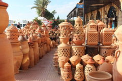 In the ceramics shop in Morocco. Stock Photo