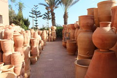 In the ceramics shop in Morocco. Royalty Free Stock Photography