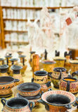 Ceramics souvenir shop Royalty Free Stock Images