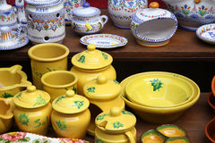 Ceramics store Royalty Free Stock Photography