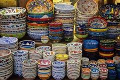 Ceramics store at Grand bazaar in Istanbul Royalty Free Stock Image