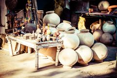 Ceramics on the street. Stock Photography