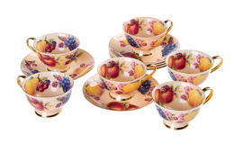 Ceramics tea cup set on background Stock Image