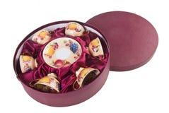 Ceramics tea cup set on background Stock Images