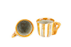 Ceramics tea cups set. Stock Photo