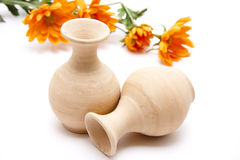Ceramics vase with flower Stock Photography