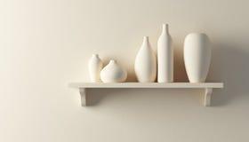 Free Ceramics Vases On The Shelf Royalty Free Stock Images - 17348839
