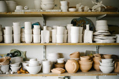 Ceramics in Workshop Stock Photos