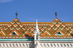Ceramics Zsolnay Tiles In Budapest Royalty Free Stock Images