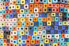 Ceramiczna dekoracyjna ściany płytki tekstura i tło Zdjęcia Stock