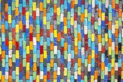 Ceramiczna dekoracyjna ściany płytki tekstura i tło Zdjęcia Royalty Free