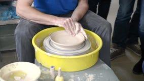 Ceramiczna garncarki koła glina 3 zbiory wideo