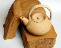Ceramiczna glina z teapot Obrazy Stock