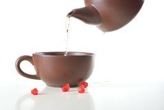ceramiczna herbata Fotografia Royalty Free