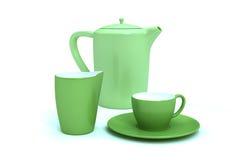 Ceramiczna kawa, Herbaciany garnek/ Obraz Stock