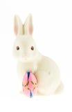 Ceramiczna królik rodzina odizolowywająca na białym tle. Obrazy Stock