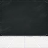 Ceramiczna mozaiki podłoga i czarny kredowej deski puste miejsce Zdjęcia Royalty Free