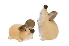 Ceramiczna mysz. Zdjęcia Royalty Free