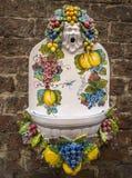 Ceramiczna pamiątka w starym miasteczku Siena, Tuscany, Włochy obrazy stock