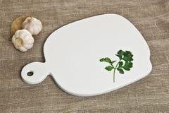 Ceramiczna tnąca deska Fotografia Royalty Free