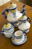 ceramiczna ustalona herbata Obrazy Royalty Free