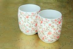Ceramiczne filiżanki Fotografia Royalty Free
