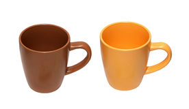 ceramiczne filiżanki Zdjęcie Royalty Free