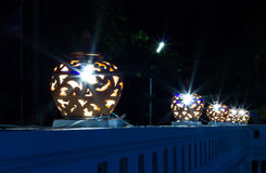 Ceramiczne lampy Obraz Stock