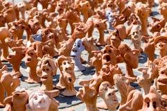 Ceramiczne miniaturowe statuy Zdjęcia Royalty Free