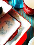 ceramiczne niecki stubarwne Zdjęcia Royalty Free