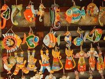 Ceramiczne pamiątki z morskim tematem zdjęcie royalty free