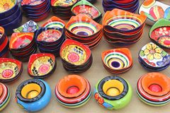 Ceramiczne pamiątki przy rynkiem Sineu, Mallorca, Hiszpania Zdjęcie Royalty Free
