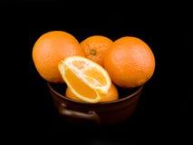 ceramiczne puchar pomarańcze Fotografia Royalty Free