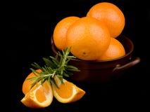 ceramiczne puchar pomarańcze Obrazy Royalty Free