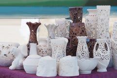 Ceramiczne wazy i naczynia dla kuchni Zdjęcia Royalty Free