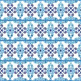Ceramicznej płytki wzór Islamscy, indyjscy, arabscy motywy, adamaszkowy deseniowy bezszwowy Porcelany etniczny artystyczny tło Ab ilustracji