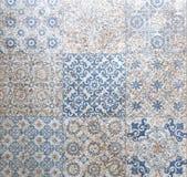 Ceramicznej płytki wzoru elegancki rocznik i Tuscany kwiaty Beauti zdjęcie stock