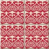 Ceramicznej płytki wzoru 395 krzywy ślimakowaty przecinający kwiat Royalty Ilustracja