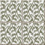 Ceramicznej płytki wzoru 368 rocznika natury liścia krzyż Fotografia Stock